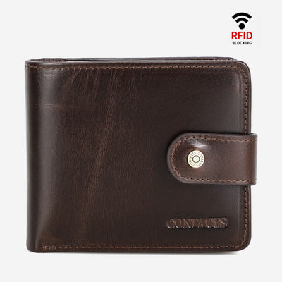 RFID Vintage Genuine Leather Wallet