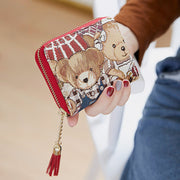 Cute Bear Tassel Card Holder