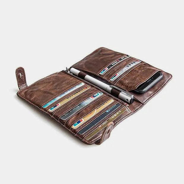 Men Vintage Card Holder Phone Bag Purse