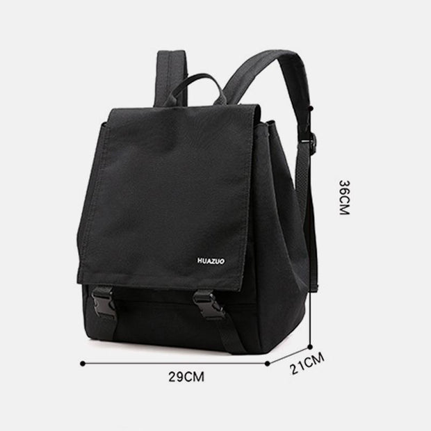 Waterproof Large Capacity Solid College Style Backpack
