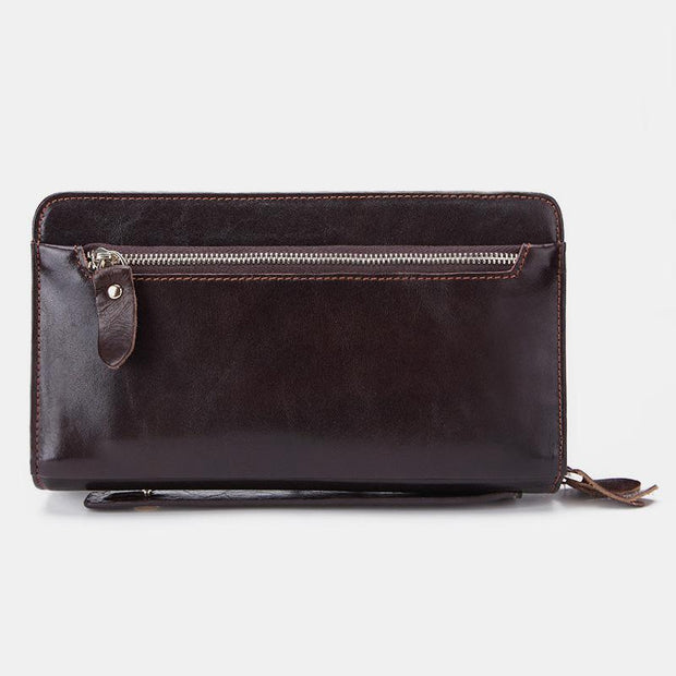 Large Capacity Leather Retro Business Wallet