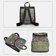 Ethnic Vintage Embroidered Travel Backpack