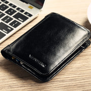 Men's Trifold Genuine Leather Classic Wallet