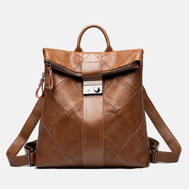 Genuine Leather Vintage Anti-Theft Backpack