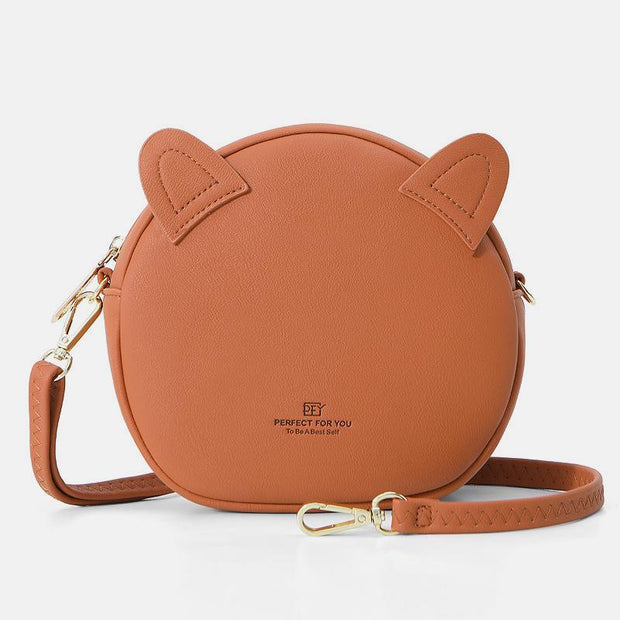 Cat Design Casual Crossbody Bag Phone Bag