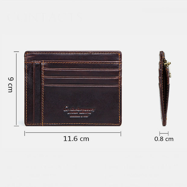Genuine Leather RFID Vintage Mini Wallet With Coin Pocket