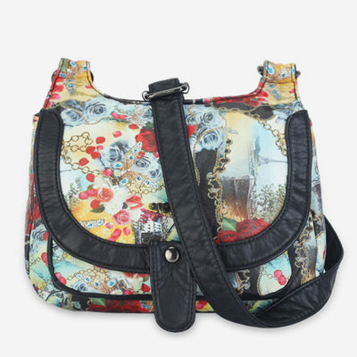 Large Capacity Printed Handbag Crossbody Bag