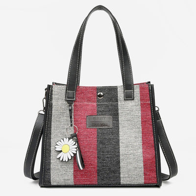 Large Capacity Striped Printed Shoulder Crossbody bag