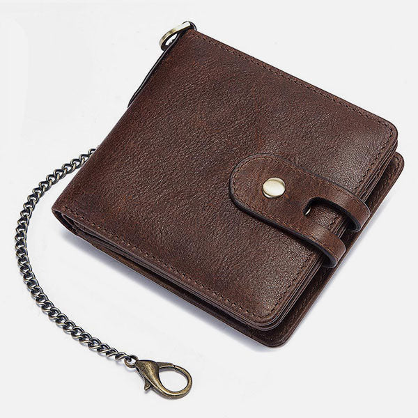 RFID Large Capacity Retro Leather Coin Wallet