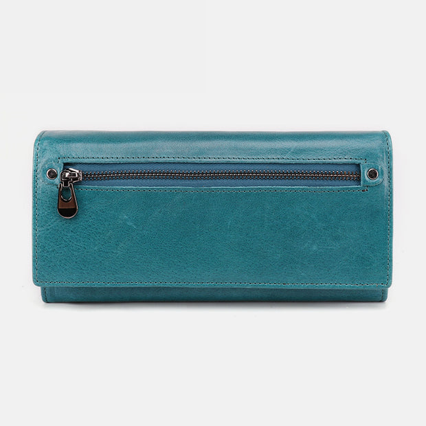 Genuine Leather RFID Vintage Wallet