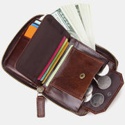 Soft Real Leather Multi-Slot Mini Wallet