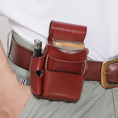 Vintage Genuine Leather Waist Bag