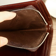Solid RFID Genuine Leather Wallet Organizer Purse