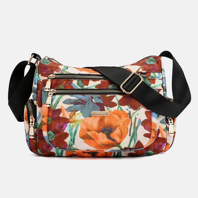 Lightweight Flower Printed Crossbody Bag
