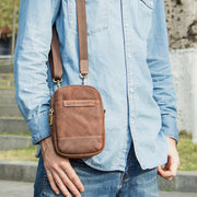Multifunctional Genuine Leather Vintage Waist Bag Crossbody Bag