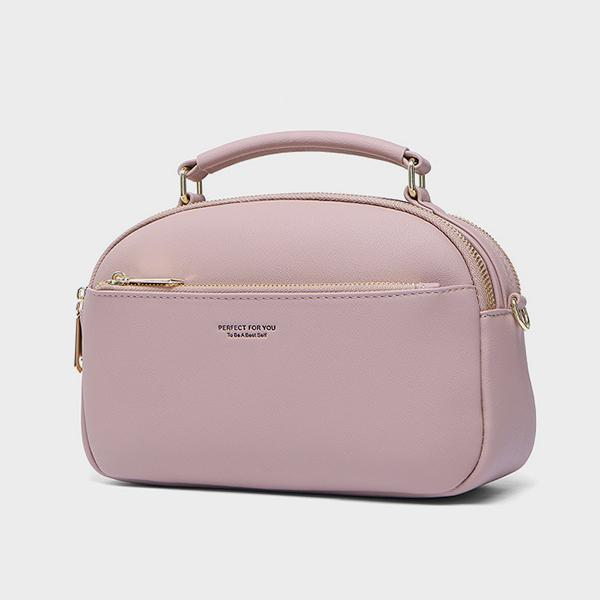 Large Capacity Solid Color Handbag Crossbody Bag
