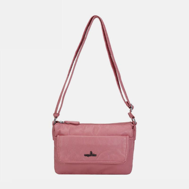 Multi-Compartment Soft Elegant Crossbody Bag