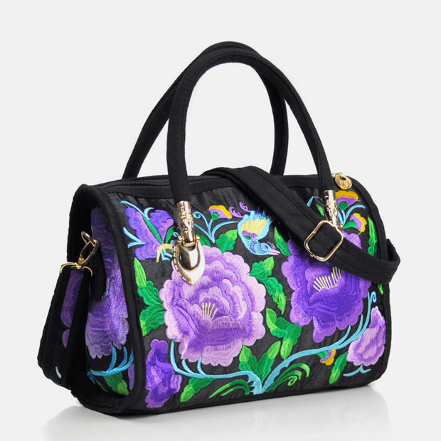 Large Capacity Multicolor Embroidered Ethnic Tote