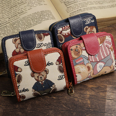 Cute Bear Small Wallet Card Holder