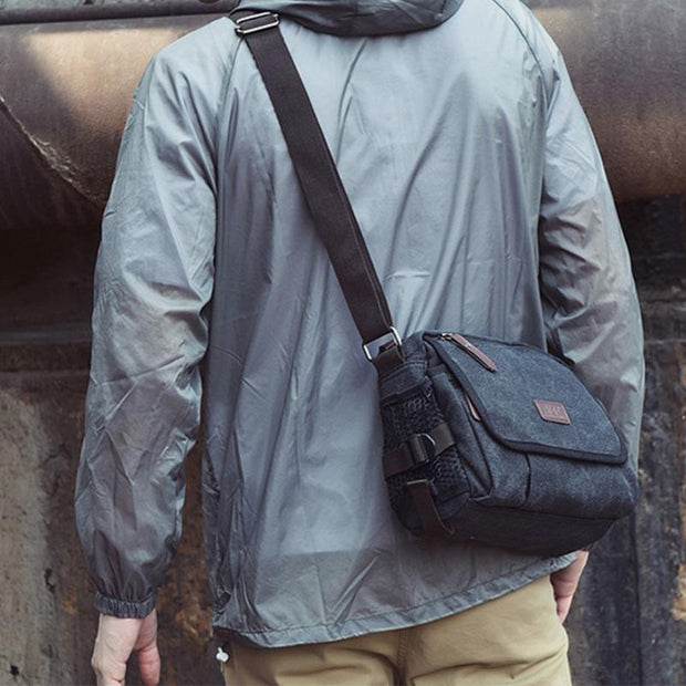 Casual Wear-Resistant Retro Messenger Bag For Men
