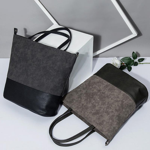 Large Capacity Soft Tote Handbag