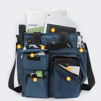 Large Capacity Scalable Multi-Pocket Crossbody Bag
