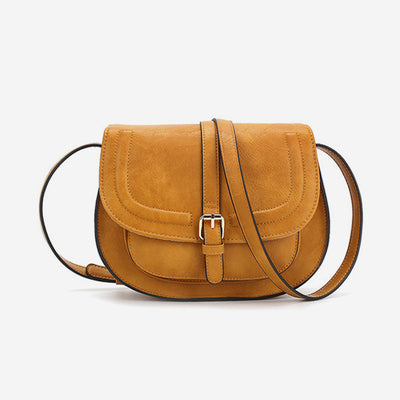 Vintage Saddle Crossbody Bag