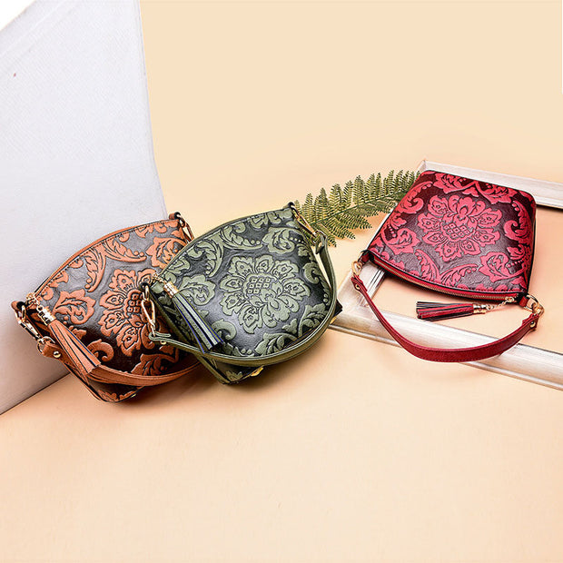 Lightly Design Elegant Embossing Crossbody Bag