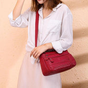 Multi-pocket Solid Crossbody Bag