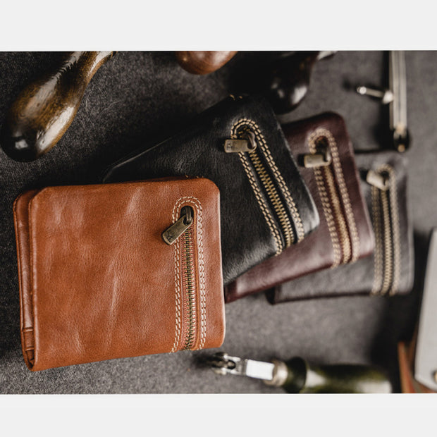 Hand-made Genuine Leather Slim Mini Wallet