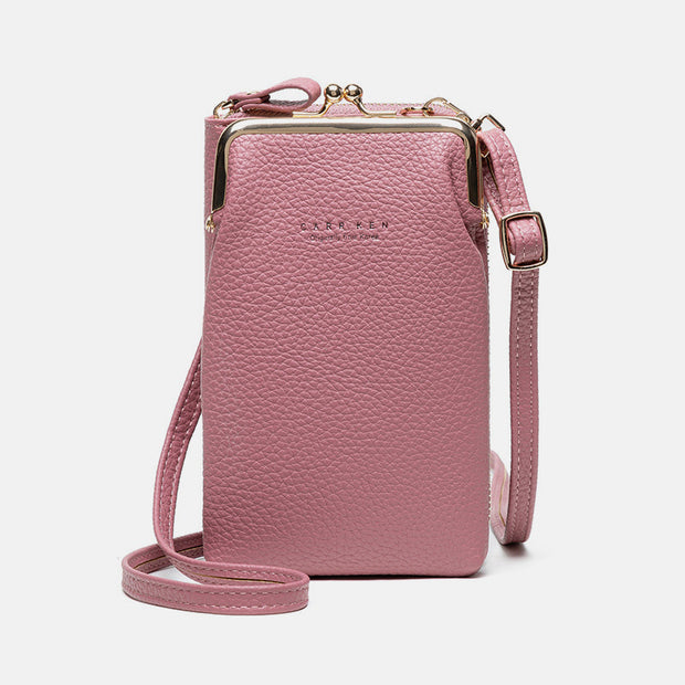 Multifunctional Kiss-Lock Crossbody Phone Bag