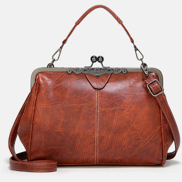 Large Capacity Retro Oil Wax Shoulder Bag