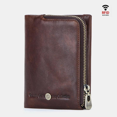 RFID Anti-theft Multifunctional Zipper Wallet