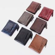 RFID Genuine Leather Multi Card Retro Wallet