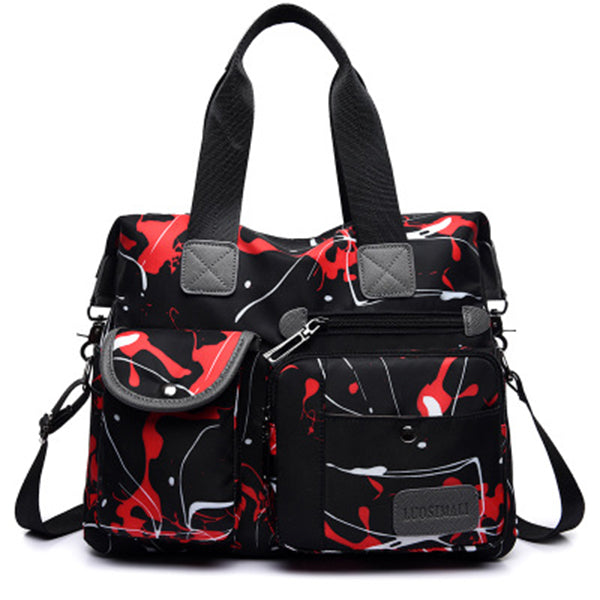 Abstract Doodles Hand Drawn Handbag Shoulder Bag