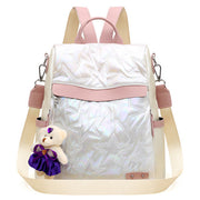 Anti-theft Contrast Color Embossing Backpack