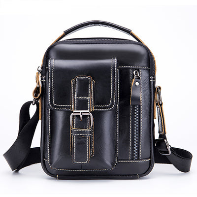 Casual Genuine Leather Multifunctional Crossbody Bag
