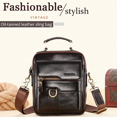 Casual Vintage Genuine Leather Crossbody Bag