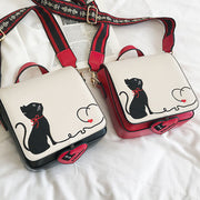 Cat Pattern Crossbody Bag