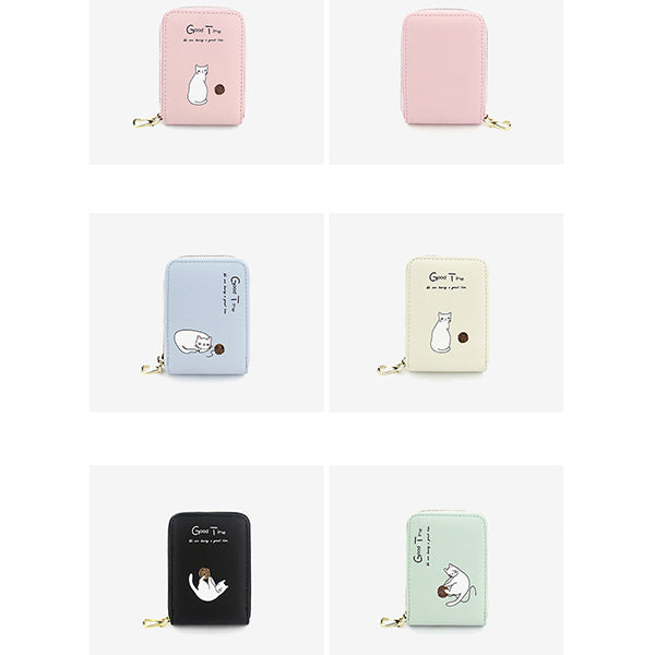 Cat Printed Cute Cartoon Card Holder