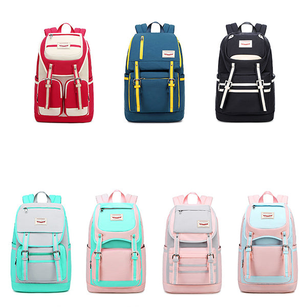 Contrast Waterproof College Style Backpack