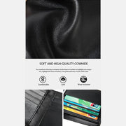 Soft Genuine Leather Multi-Slot RFID Slim Wallet