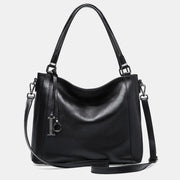 Genuine Leather Simply Fashion Large Tote