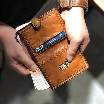 Genuine Leather Vintage Soft Slim Wallet
