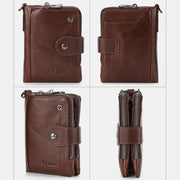 RFID Blocking Leather Multi-Slot Anti-theft Wallet