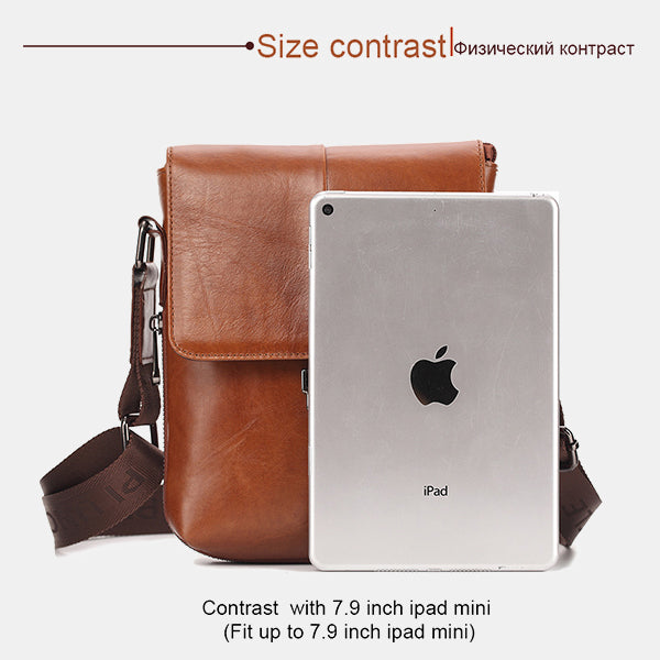 Genuine Leather Retro Adjustable Crossbody Bag