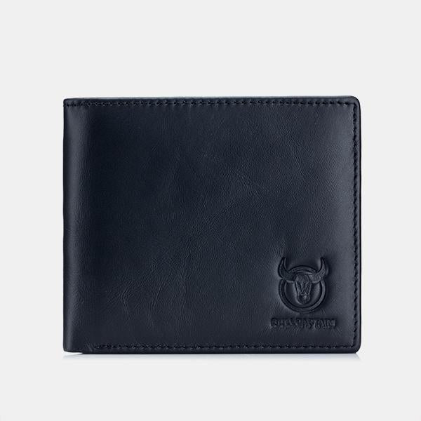 RFID Protection Genuine Leather Multi-Slot Wallet