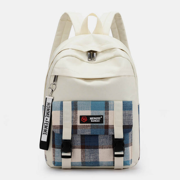 Large Capacity Lattice Laptop School Backpack