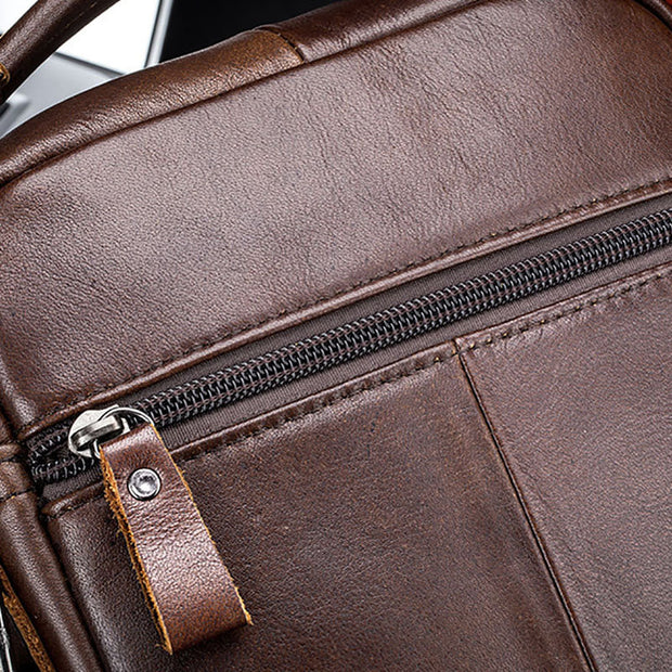 Men's Casual Leather Business Vintage Crossbody Bag