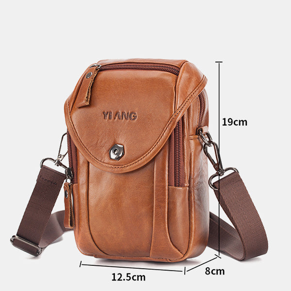 Men's Genuine Leather Phone Purse Crossbody Bag
